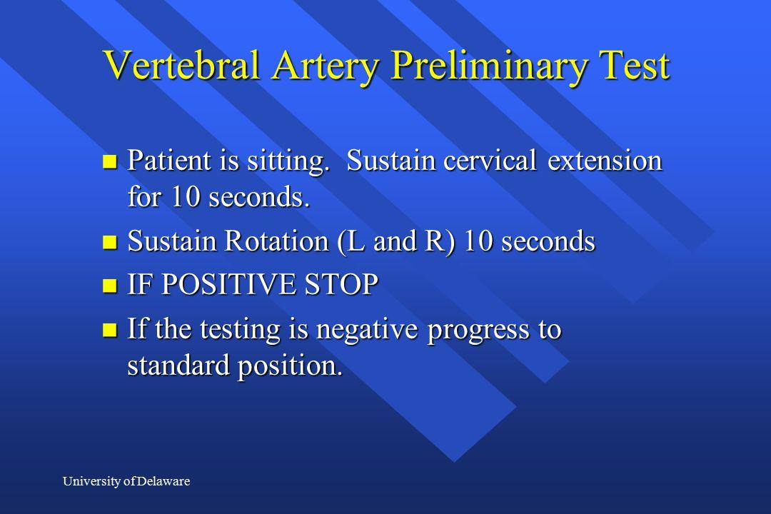 Vertebral Artery Preliminary Test