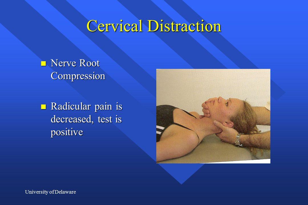 Cervical Distraction Nerve Root Compression