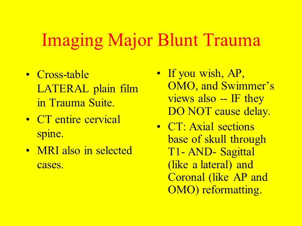 Imaging Major Blunt Trauma