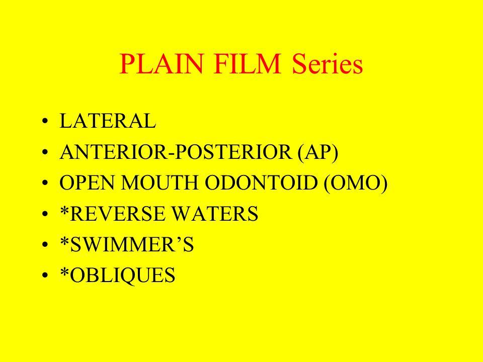 PLAIN FILM Series LATERAL ANTERIOR-POSTERIOR (AP)