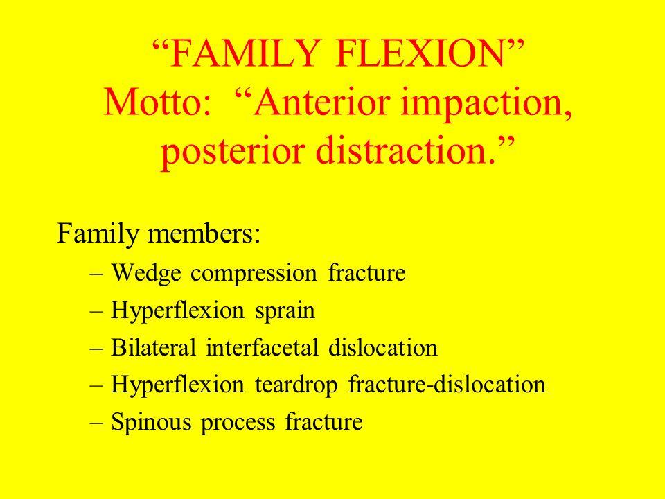 FAMILY FLEXION Motto: Anterior impaction, posterior distraction.