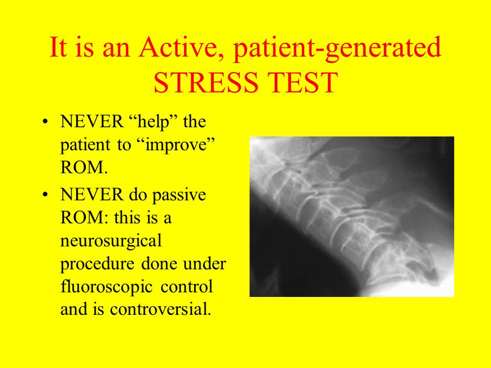 It is an Active, patient-generated STRESS TEST