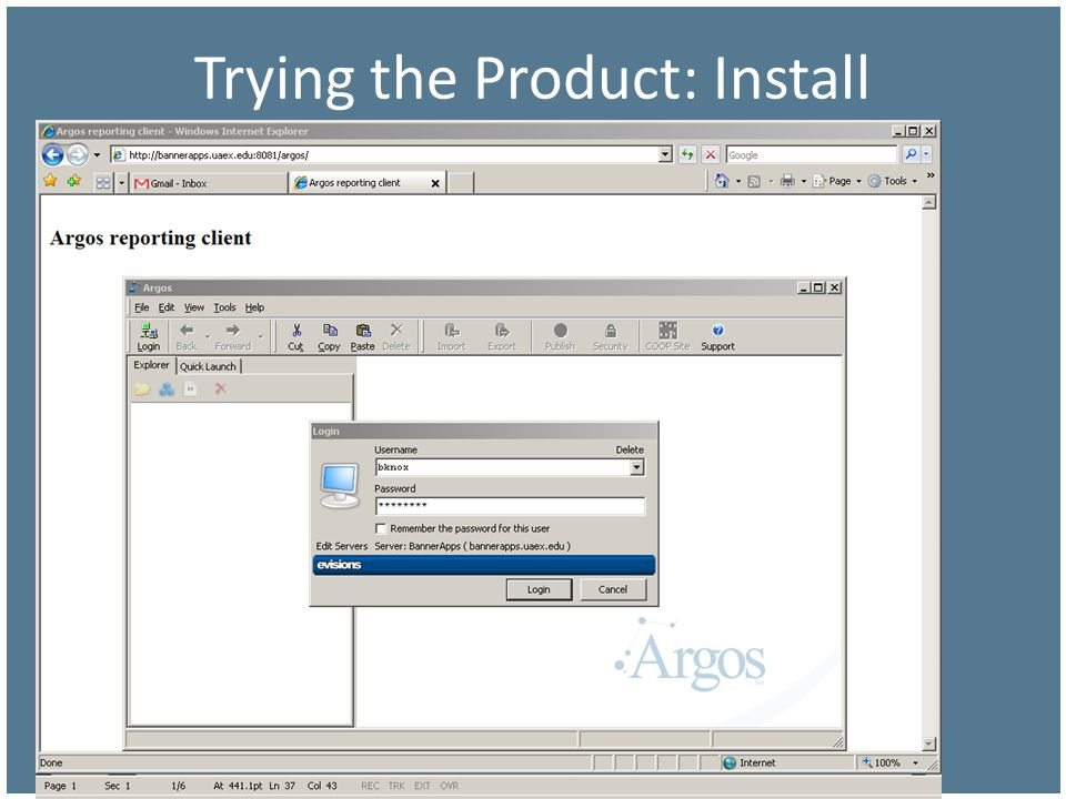 Trying the Product: Install