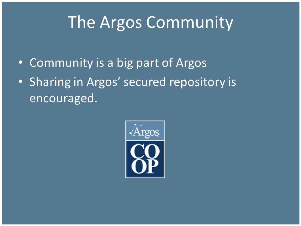 The Argos Community Community is a big part of Argos