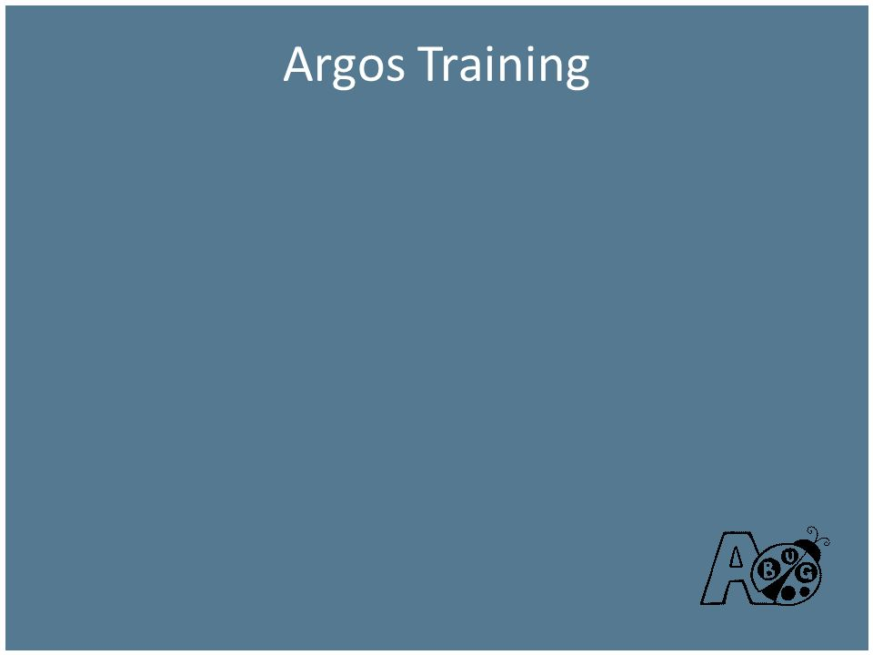 Argos Training Argos Training