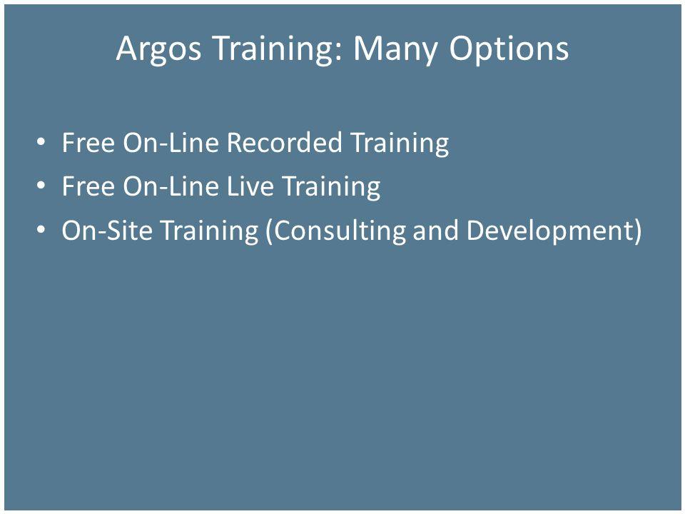 Argos Training: Many Options