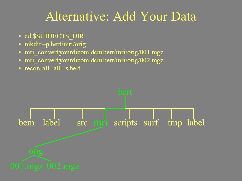 Alternative: Add Your Data