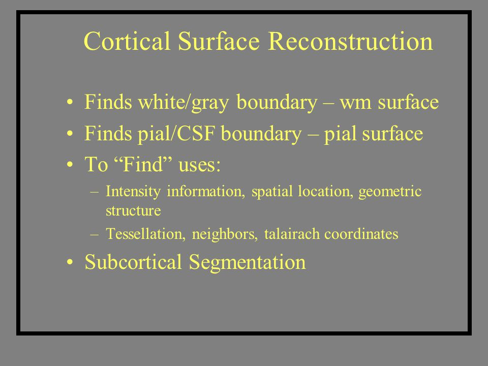 Cortical Surface Reconstruction