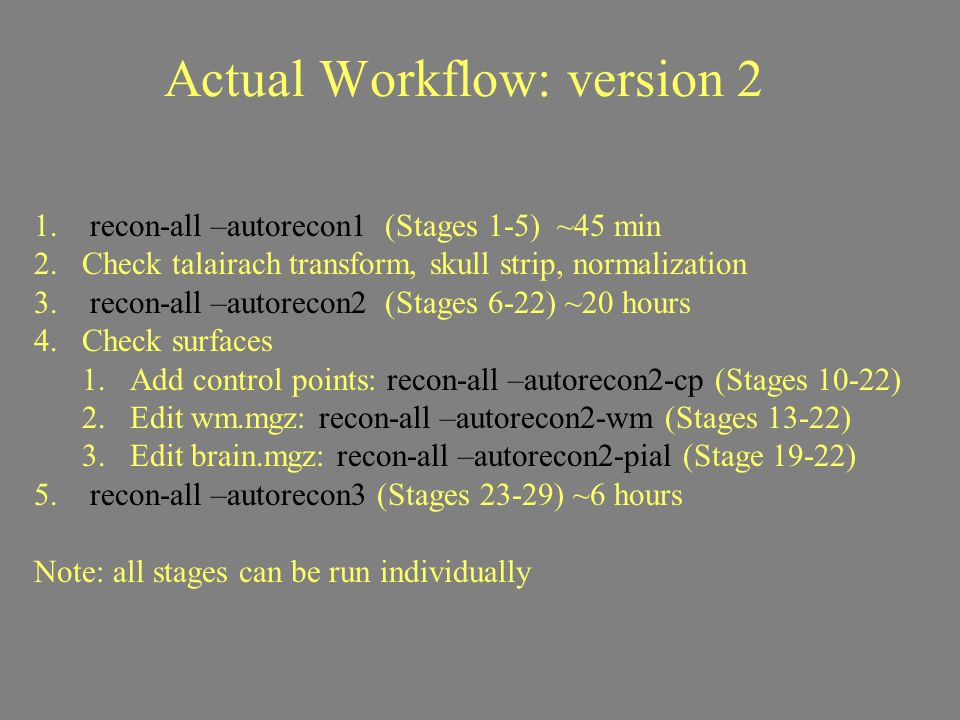 Actual Workflow: version 2