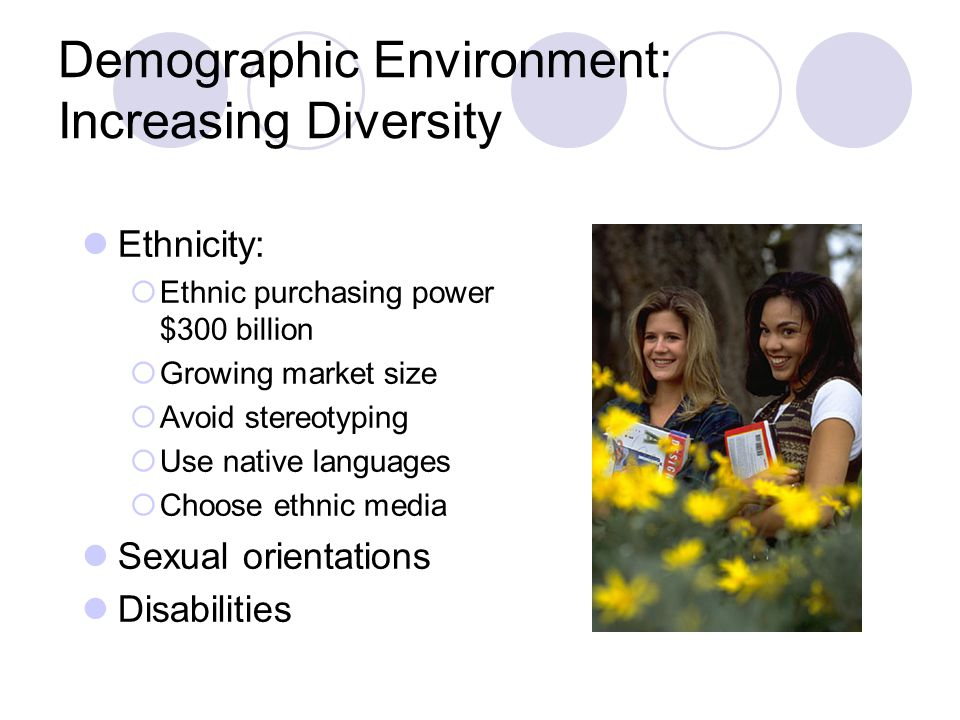 Demographic Environment: Increasing Diversity