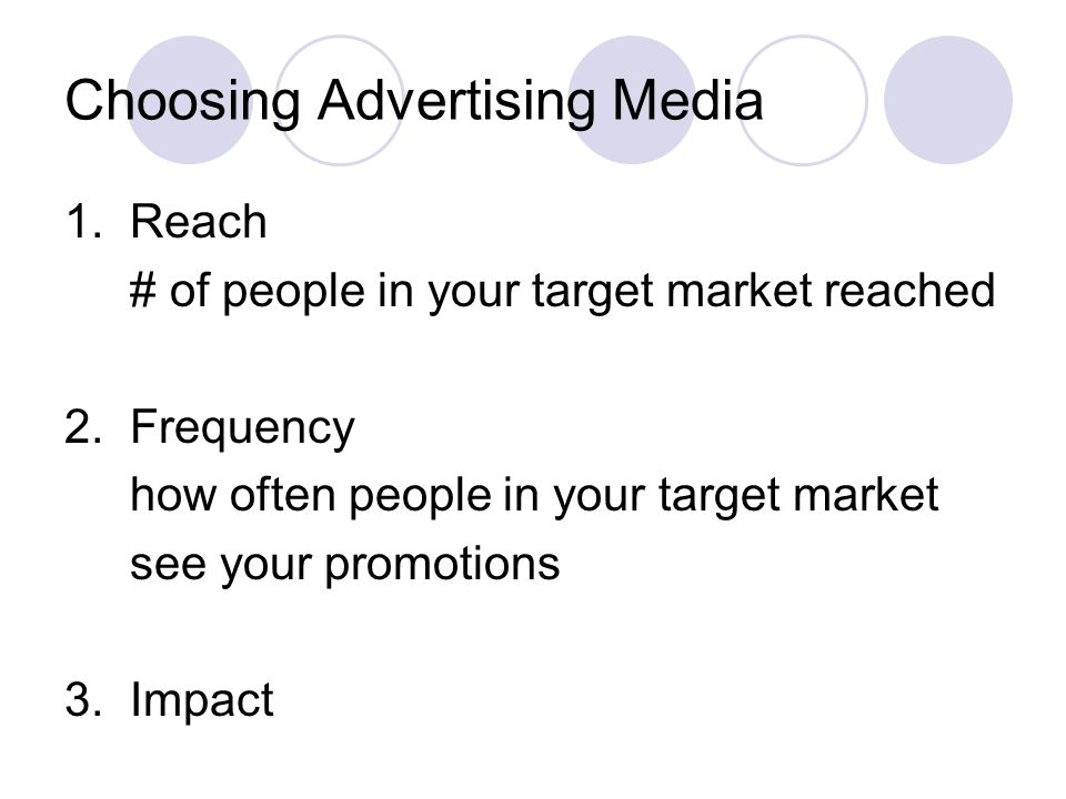 Choosing Advertising Media