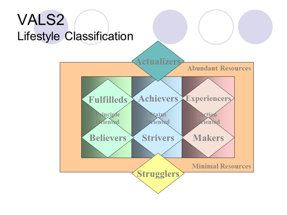 VALS2 Lifestyle Classification