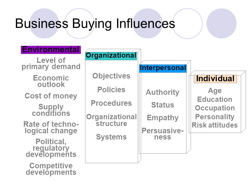 Business Buying Influences