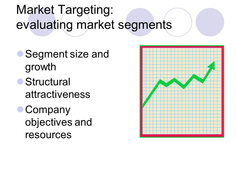 Market Targeting: evaluating market segments