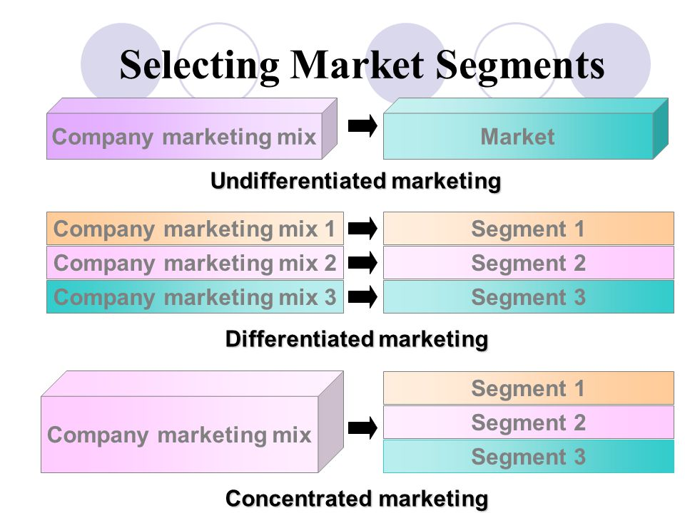 Selecting Market Segments