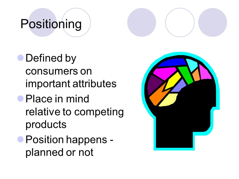 Positioning Defined by consumers on important attributes