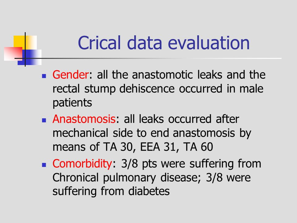 Crical data evaluation
