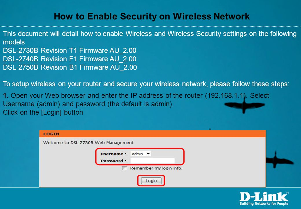 How to Enable Security on Wireless Network