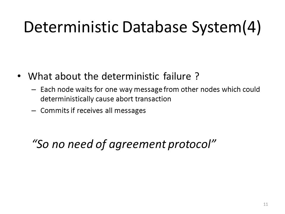 Deterministic Database System(4)