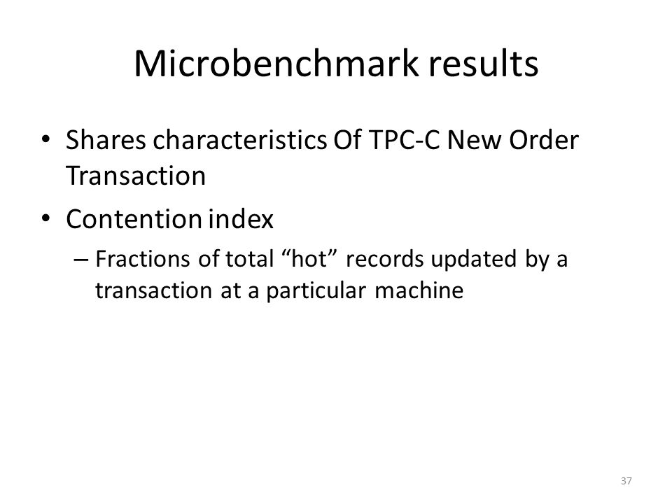 Microbenchmark results