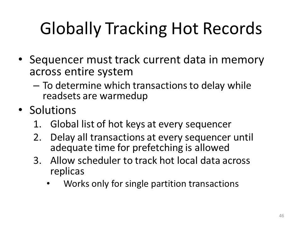 Globally Tracking Hot Records