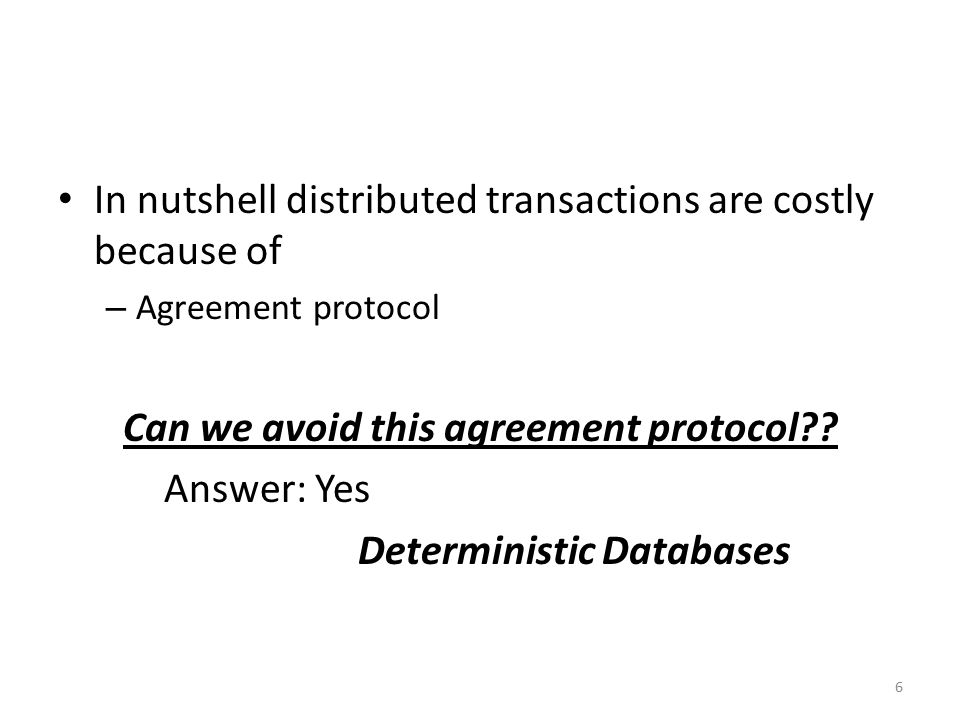 Can we avoid this agreement protocol