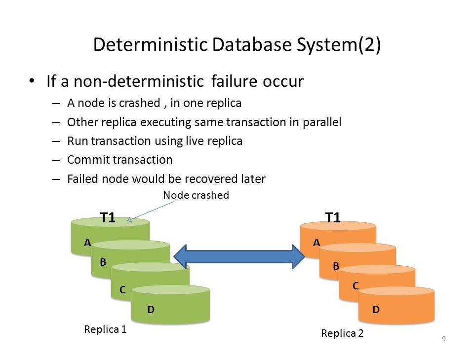Deterministic Database System(2)