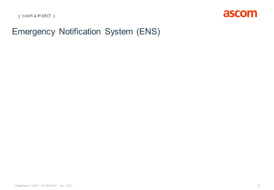 Emergency Notification System (ENS)