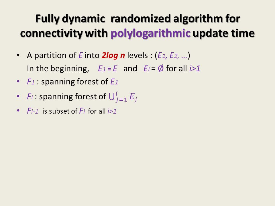Fully dynamic randomized algorithm for connectivity with polylogarithmic update time