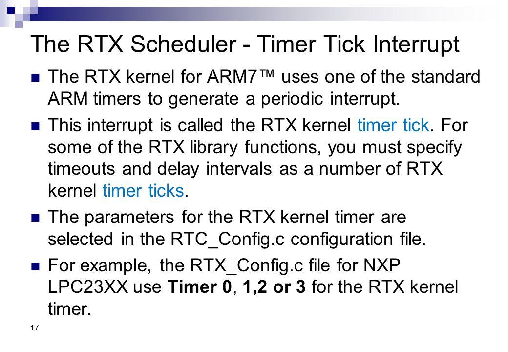 The RTX Scheduler - Timer Tick Interrupt