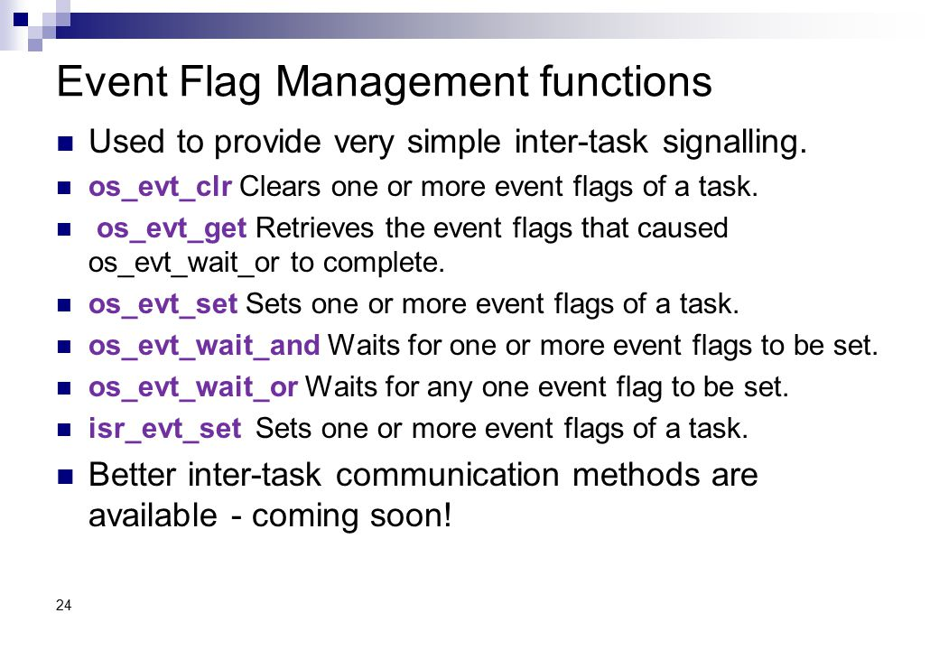 Event Flag Management functions