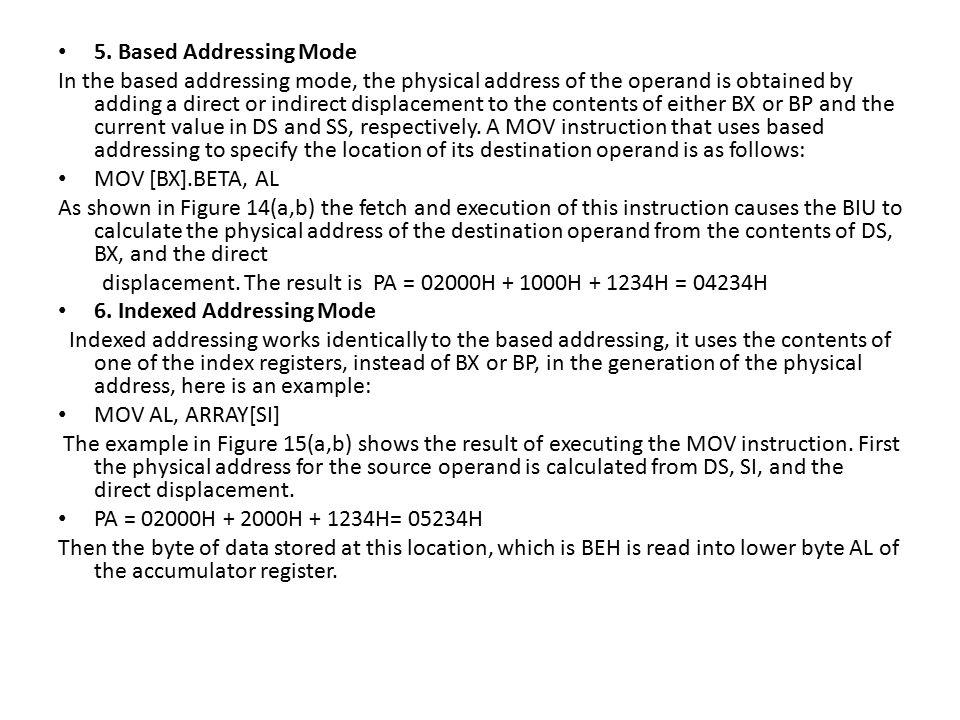 5. Based Addressing Mode