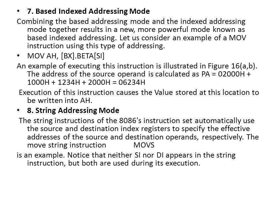 7. Based Indexed Addressing Mode