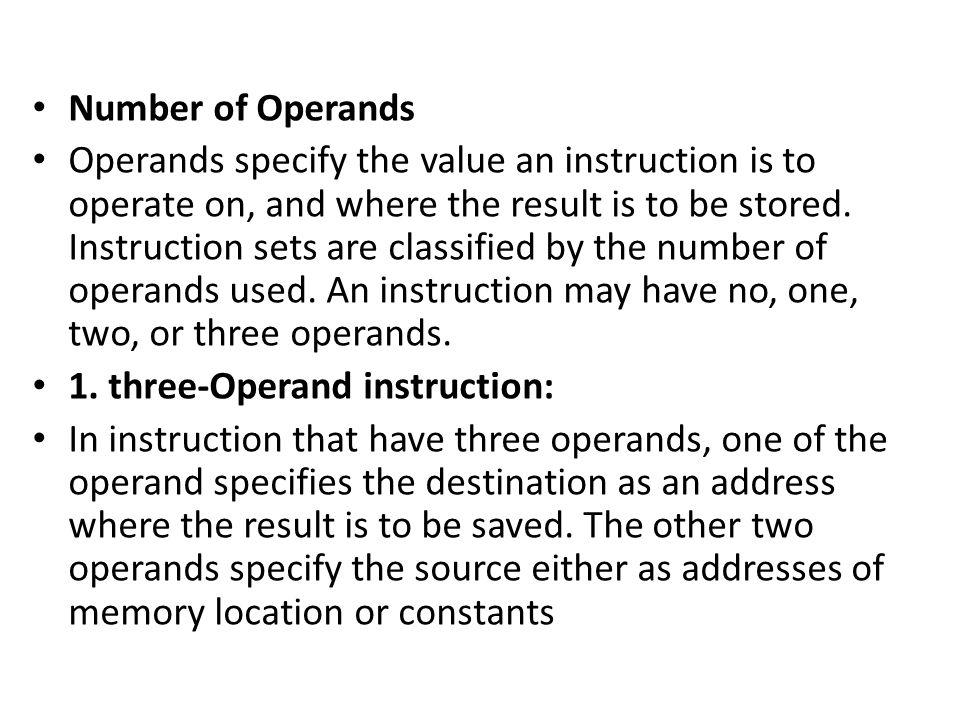 Number of Operands