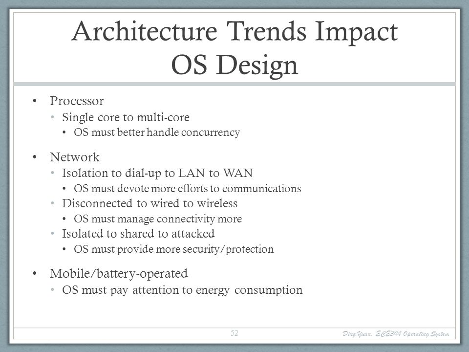 Architecture Trends Impact OS Design