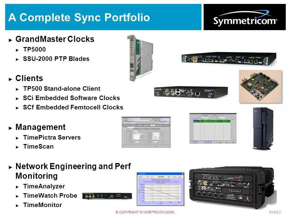 A Complete Sync Portfolio