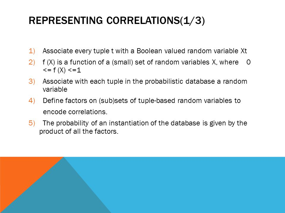 Representing correlations(1/3)