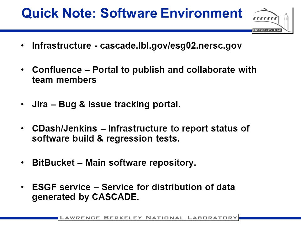 Quick Note: Software Environment