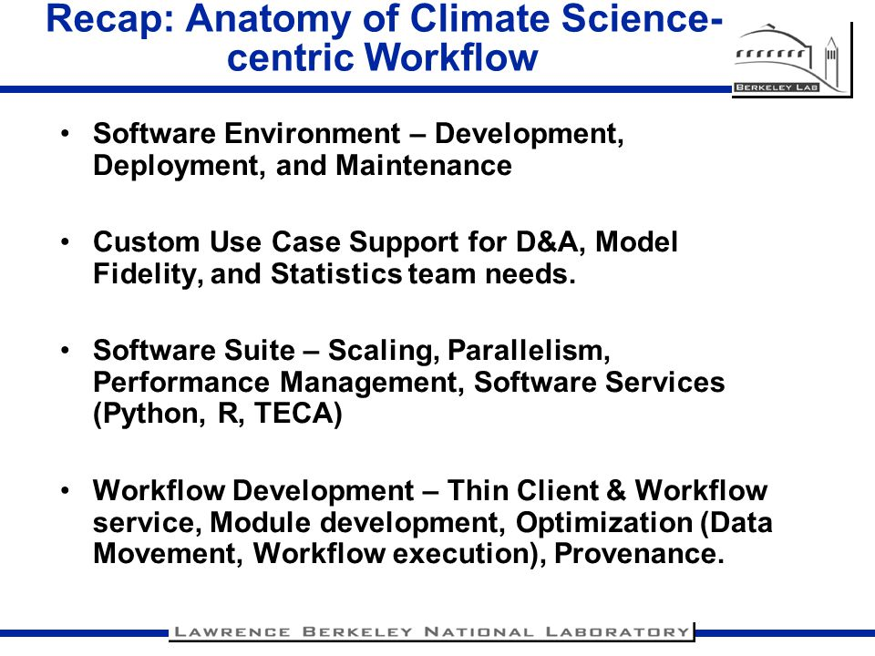 Recap: Anatomy of Climate Science-centric Workflow