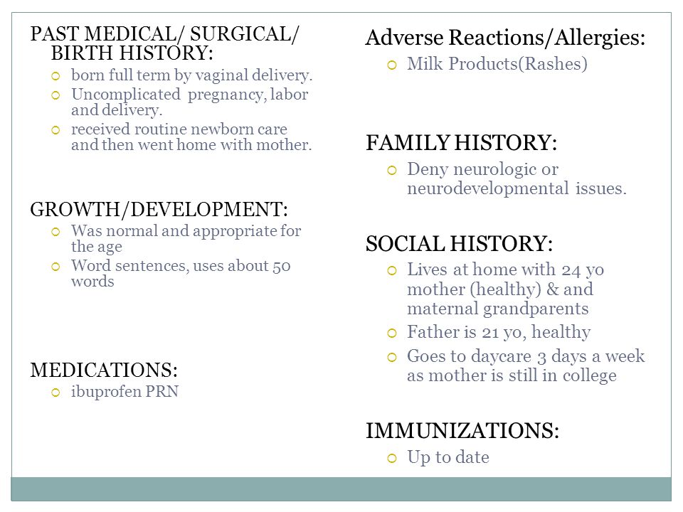 Adverse Reactions/Allergies: