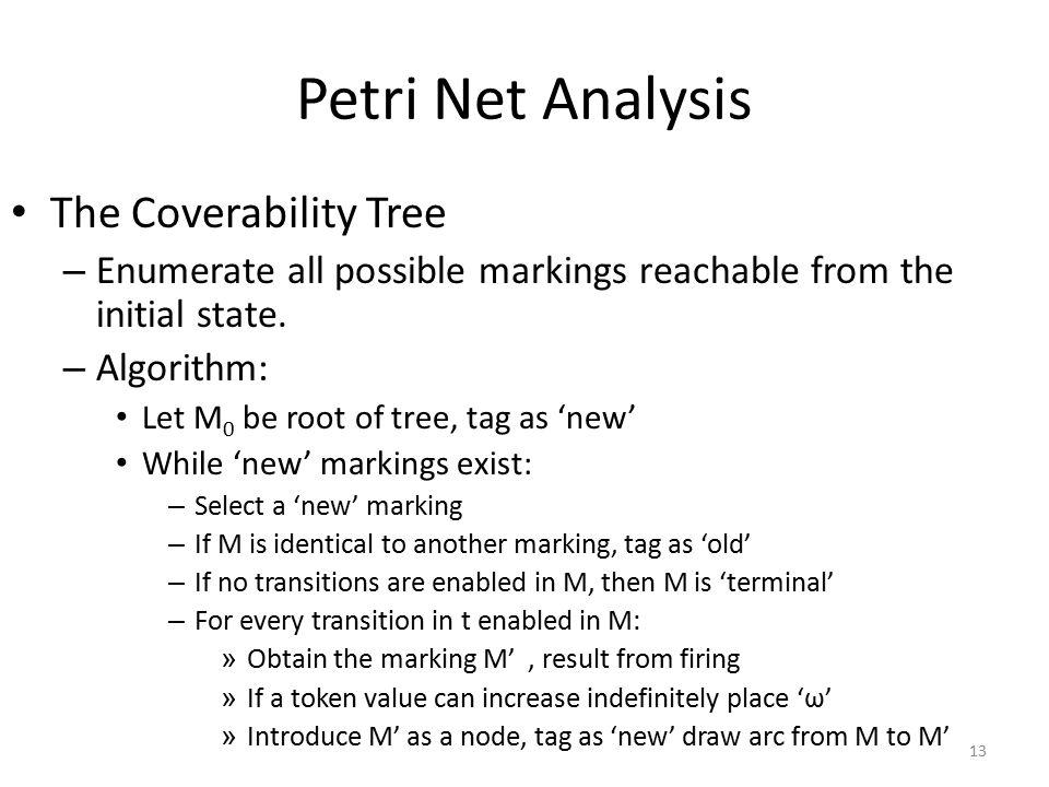 Petri Net Analysis The Coverability Tree