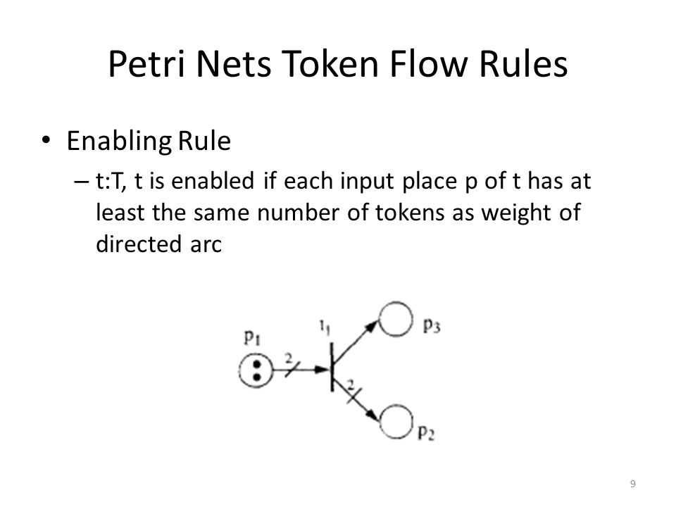 Petri Nets Token Flow Rules