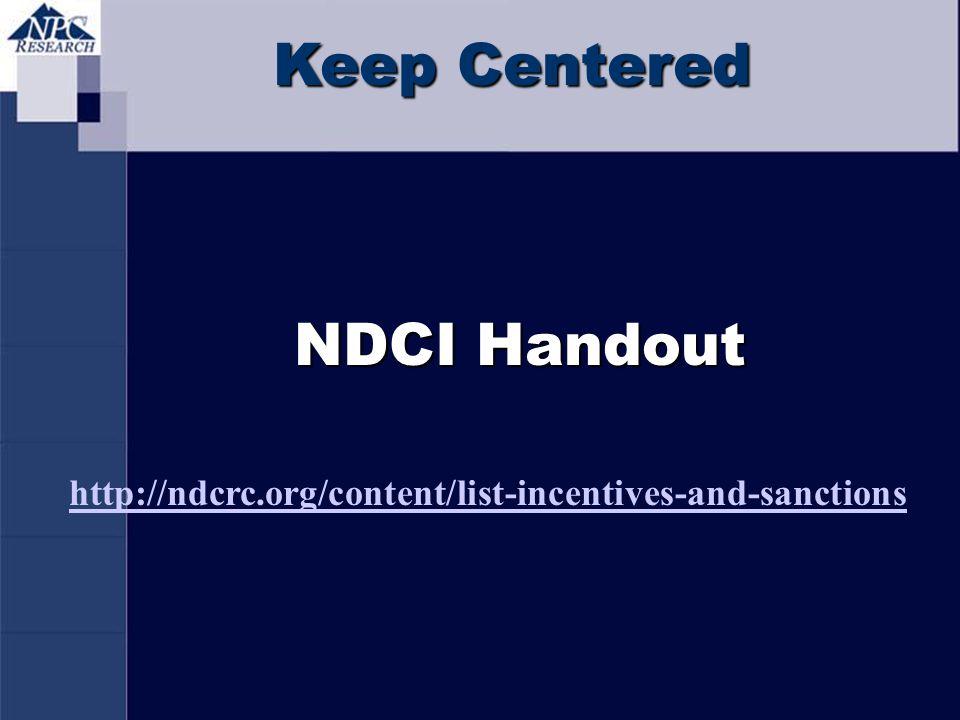 Keep Centered NDCI Handout