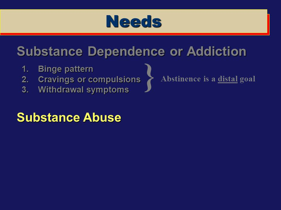 Abstinence is a distal goal