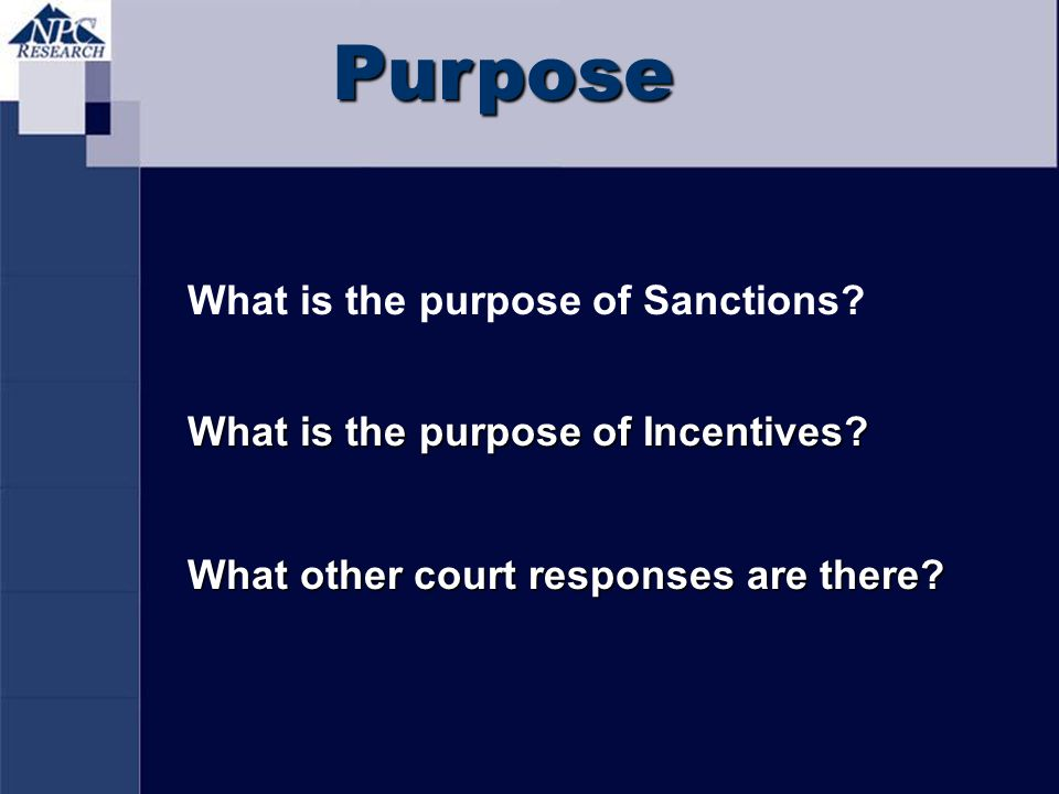 Purpose What is the purpose of Sanctions