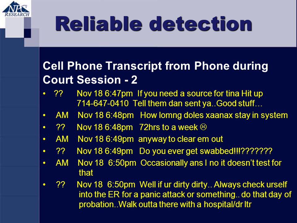 Reliable detection Cell Phone Transcript from Phone during Court Session - 2.