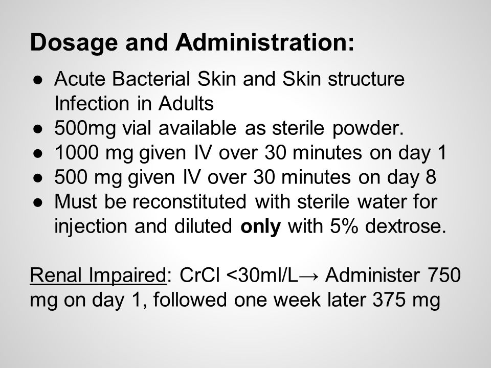 Dosage and Administration: