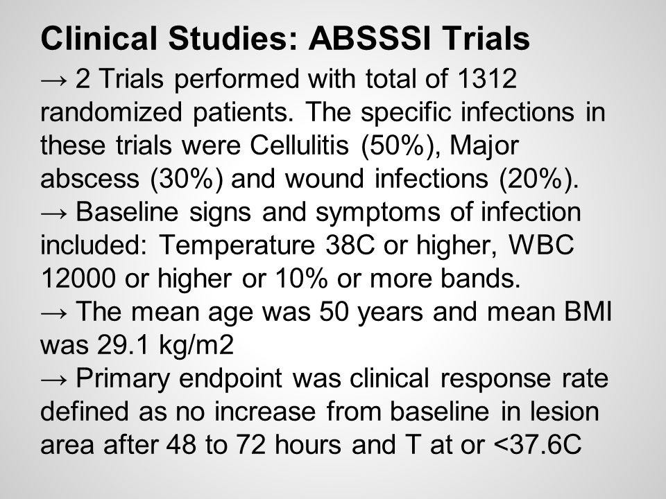 Clinical Studies: ABSSSI Trials