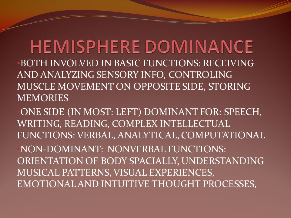 HEMISPHERE DOMINANCE
