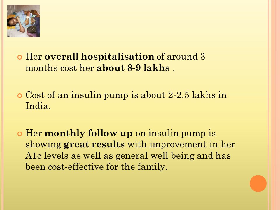 Her overall hospitalisation of around 3 months cost her about 8-9 lakhs .